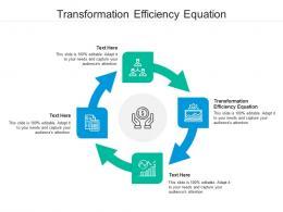Transformation Efficiency Equation Ppt Powerpoint Presentation Portfolio Gridlines Cpb