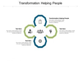 Transformation Helping People Ppt Powerpoint Presentation Ideas Gridlines Cpb
