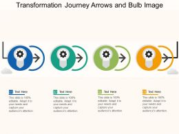 Transformation Journey Arrows And Bulb Image