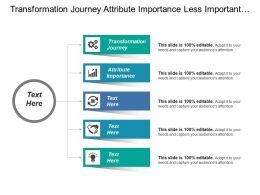 Transformation Journey Attribute Importance Less Important Weak Performance