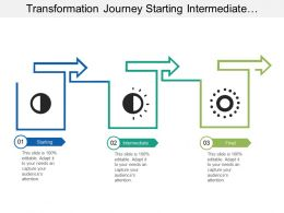 Transformation Journey Starting Intermediate Final With Arrows Image