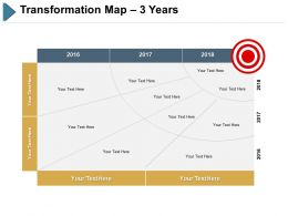 Transformation Map 3 Years Ppt Slides Visual Aids