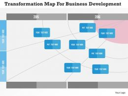 Transformation Map For Business Development Flat Powerpoint Design
