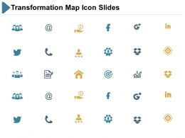 Transformation Map Icon Slides Ppt Powerpoint Presentation File Diagrams