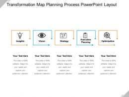 Transformation Map Planning Process Powerpoint Layout