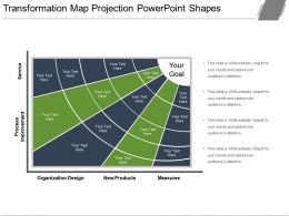 Transformation Map Projection Powerpoint Shapes