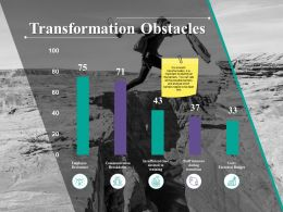 Transformation Obstacles Ppt Powerpoint Presentation Icon Designs