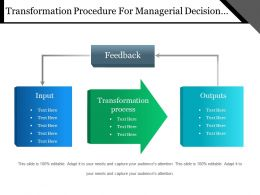Transformation Procedure For Managerial Decision Making Powerpoint Shapes