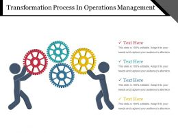 Transformation Process In Operations Management Powerpoint Slide