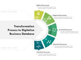 Transformation Process To Digitalize Business Database