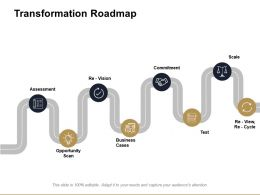 Transformation Roadmap Assessment Ppt Powerpoint Presentation File Infographic Template