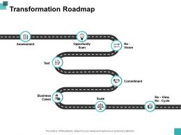 Transformation Roadmap Ppt Powerpoint Presentation File Graphics Download