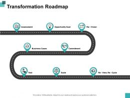 Transformation Roadmap Slide2 Ppt Powerpoint Presentation File Graphics Design