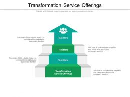 Transformation Service Offerings Ppt Powerpoint Presentation Model Vector Cpb
