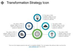 Transformation Strategy Icon PPT Slide Examples