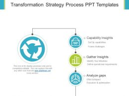 Transformation Strategy Process Ppt Templates