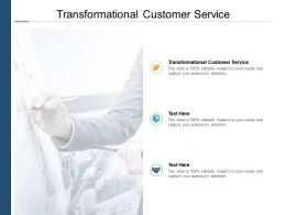 Transformational Customer Service Ppt Powerpoint Presentation Pictures Elements Cpb