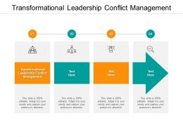 Transformational Leadership Conflict Management Ppt Powerpoint Pictures Clipart Cpb
