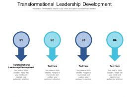 Transformational Leadership Development Ppt Powerpoint Presentation Icon Examples Cpb