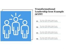 Transformational Leadership Icon Example Of Ppt