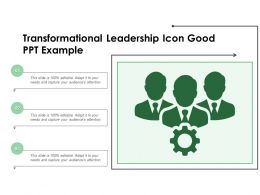 Transformational Leadership Icon Good Ppt Example