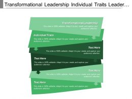 Transformational Leadership Individual Traits Leader Behaviors Inspirational Motivation