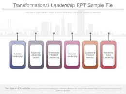 Transformational Leadership Ppt Sample File