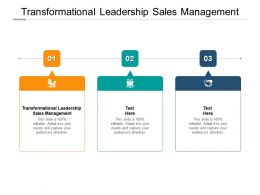 Transformational Leadership Sales Management Ppt Powerpoint Presentation Show Cpb