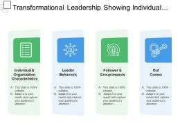 Transformational Leadership Showing Individual And Organisational Characteristics