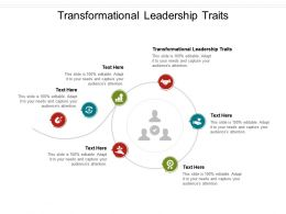 Transformational Leadership Traits Ppt Powerpoint Presentation Inspiration Templates Cpb