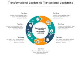 Transformational Leadership Transactional Leadership Ppt Powerpoint Slides Model Cpb