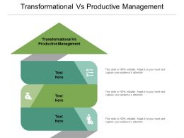Transformational Vs Productive Management Ppt Powerpoint Presentation Infographic Template Microsoft Cpb