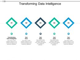 Transforming Data Intelligence Ppt Powerpoint Presentation Infographics Visuals Cpb