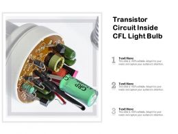 Transistor Circuit Inside CFL Light Bulb