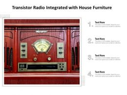 Transistor Radio Integrated With House Furniture