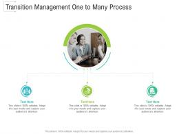 Transition Management One To Many Process Infographic Template