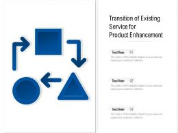 Transition Of Existing Service For Product Enhancement