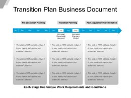 Transition Plan Business Document Powerpoint Templates