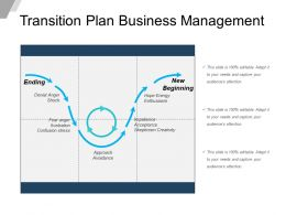 Transition Plan Business Management Powerpoint Graphics