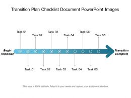 Transition Plan Checklist Document Powerpoint Images