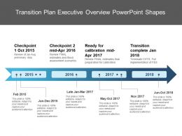 Transition Plan Executive Overview Powerpoint Shapes