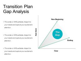 Transition Plan Gap Analysis Powerpoint Slide Background