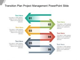 Transition Plan Project Management Powerpoint Slide