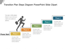 Transition Plan Steps Diagram Powerpoint Slide Clipart