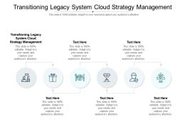 Transitioning Legacy System Cloud Strategy Management Ppt Powerpoint Presentation File Brochure Cpb