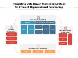Translating Data Driven Marketing Strategy For Efficient Organizational Functioning