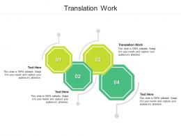 Translation Work Ppt Powerpoint Presentation Show Outline Cpb