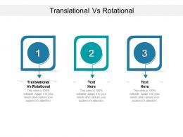 Translational Vs Rotational Ppt Powerpoint Presentation Slides Design Ideas Cpb
