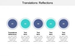 Translations Reflections Ppt Powerpoint Presentation Pictures Designs Download Cpb
