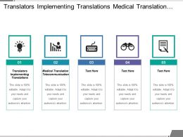 Translators Implementing Translations Medical Translation Telecommunication Human Resources